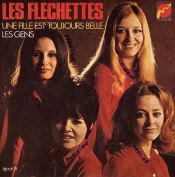"""Cover of """"Une Fille est Toujours Belle"""" by Les Flechettes"""